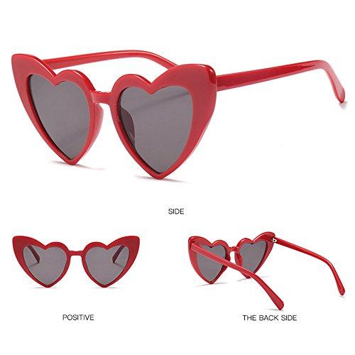 De Moda Gafas Cat Eyewear Sol Red Gafas Love Red Love De gaddw4q