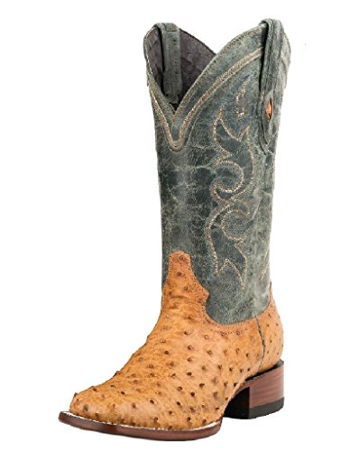 Stetson Antique Saddle Ostrich Vamp 138243 Eje Cheyenne Tan