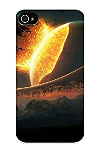 New Fashionable Judasslzzlc 8144b717413 Cover Case Specially Made For Iphone 4/4s(mountains Nature Outer Space Trees Stars Futuristic Buildings Collision )