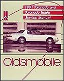 1991 Oldsmobile Toronado & Trofeo Repair Shop Manual Original