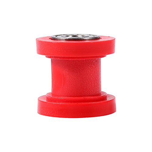 10mm Pulley Tensioner Chain Roller, Keenso Chain Roller Slider Tensioner Wheel Guide for Motorcycle Pit Dirt Mini Bike ATV (Red)