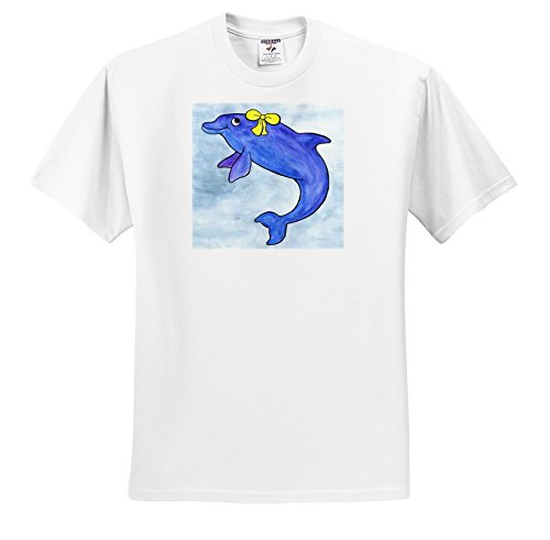 3dRose Whale Tail Gang - Daisy Bottlenosed Dolphin - T-Shirts - Youth T-Shirt Large(14-16) (ts_1099_14)