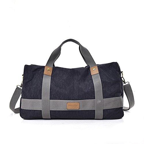 Luggage Bag Outdoor Canvas Black Capacity Oblique Large Shoulder 6ZAd8OSdqw