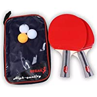 VGEBY Table Tennis Set,2 Rackets, 3 Balls With Carrying Case for Professional or Recreational Games