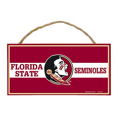 WinCraft NCAA Florida State Seminoles Hardboard Wood Signs with Rope, 5 x 10-Inch, Multi