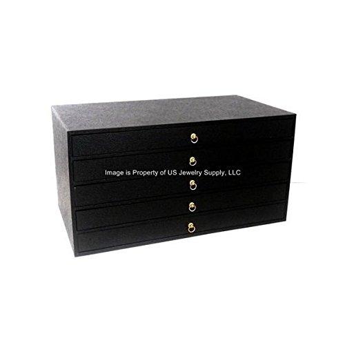 5 Drawer Grey 360 Ring Storage Organizer Jewelry Sales Cabinet Display Case
