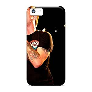 EricHowe Iphone 5c Scratch Protection Phone Cover Allow Personal Design Attractive Breaking Benjamin Pictures [Hqu6382NumW]
