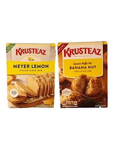 - Krusteaz - 2 pack lemon Pound Cake and banana Nut Muffin Mix