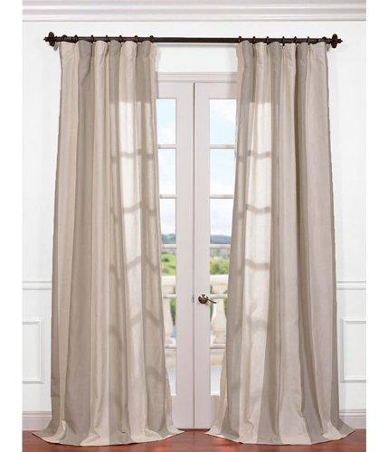 HPD HALF PRICE DRAPES Half Price Drapes FHLCH-YL7176217-96 Del Mar Linen Blend Stripe Curtain, Stone