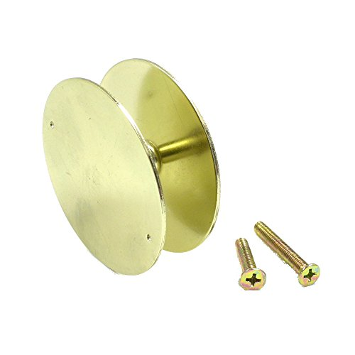 NU-SET 2171-3 Door Hole Cover Nuset Plate, Brass