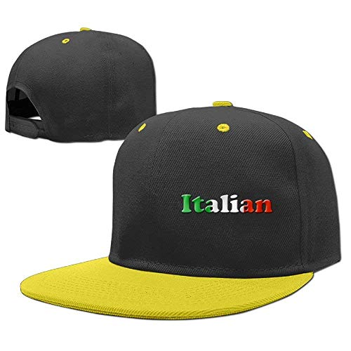 Gorras Hop Baseball béisbol RGFJJE Girls Hat Hip Boys Flag Caps Italian PaTwqd