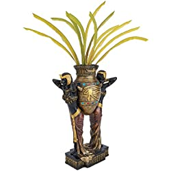 Design Toscano Egyptian Urn Carrier Maidens Sculptural Vase