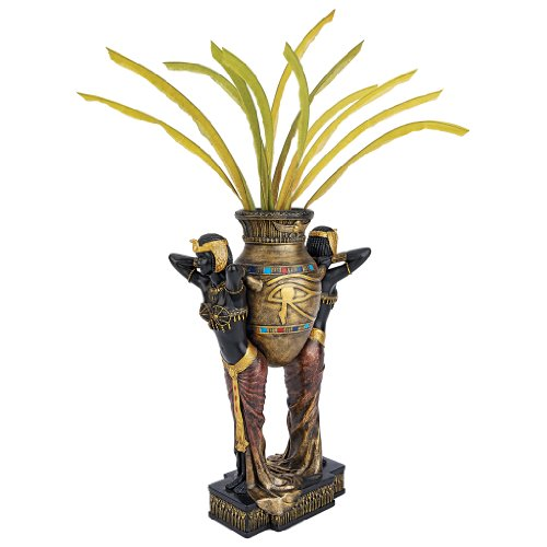 Design Toscano Egyptian Urn Carrier Maidens Sculptural Vase (Urn Sculptural)