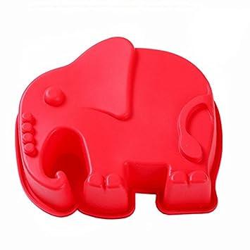 vyage (TM) 100% de calidad alimentaria silicona Candy Fondant Chocolate hacer molde para decoración de pasteles con forma de elefante: Amazon.es: Deportes y ...