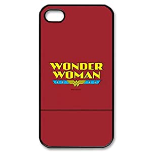 Iphone 4,4S 2D Custom Hard Back Durable Phone Case with Wonder Woman Image