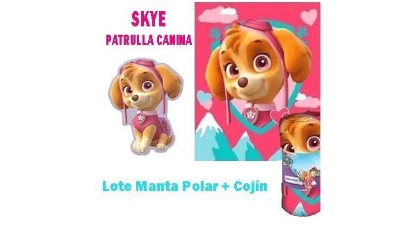 Cojin Patrulla Canina Skye Rosa Cojin Manta Paw Patrol Manta