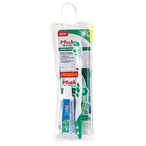 Deluxe Heavy Duty Travel Kit Organizer W/Hanger Hook Bathroom Storage CosmeticToiletry Bag (FREE TOOTHBRUSH KIT) (TOOTHBRUSH KIT-Placker Brand)