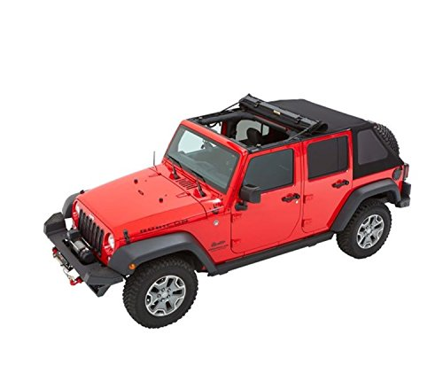 Bestop 56853-17 Black Twill Trektop for 2007-2018 Jeep Wrangler JK Unlimited 4-Door ()