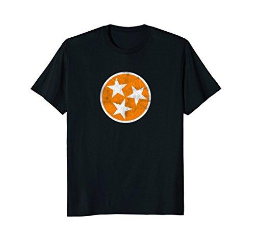 Vintage Tennessee Tri Star Flag Shirt (Flag Star Shirt)