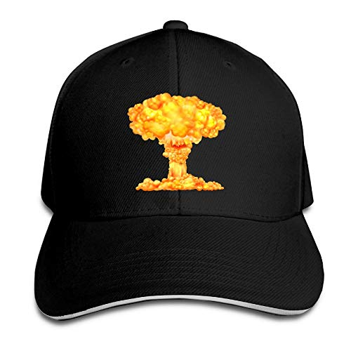 Atomic Bomb Mushroom Cloud Dad Hat Sun Hat Sandwich Baseball Cap Hats White