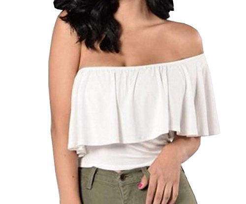 White Ruffled Cotton Camisole - 8