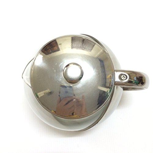 Half-Moon Teapot and Tea Strainer Set & Lid Teapot Kettle Kitchen Dining 25.36 oz. by Pisana1979 (Image #4)