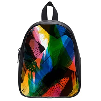 3828935cb381 Amazon.com   Fashion High-grade PU leather Feather School Book Travel Bag  Backpack Daypack For Boys Girls Large   Baby