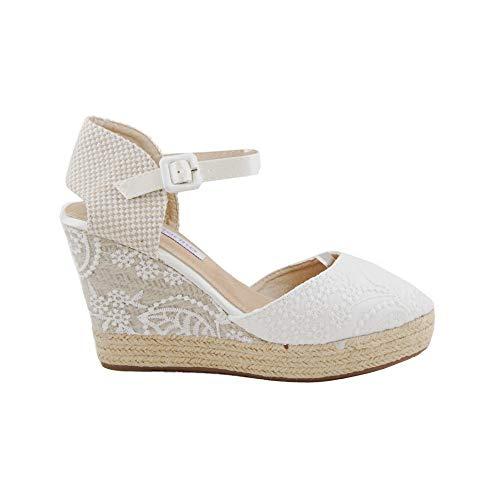 Cuña de Esparto Novia Blanco - Benavente: Amazon.es: Zapatos y complementos