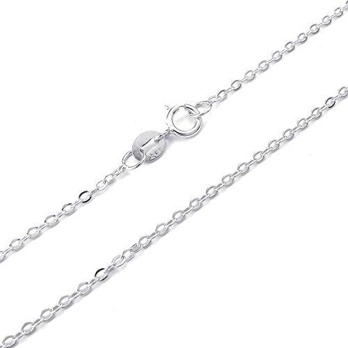 KONOV Schmuck Damen-Kette, 925 Sterling Silber, 2mm Klassiker O Link Halskette, Silber - Breite 2mm - Länge 45cm