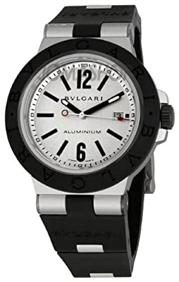 Bvlgari Diagono Aluminum and Black Rubber Mens Watch AL44TAVD/SLN