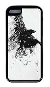 iPhone 5C Case Eagle Wings 2 TPU Custom iPhone 5C Case Cover Black