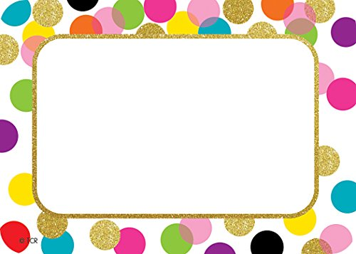 (Confetti Name Tags/Labels)