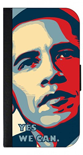 President Barack Obama - Yes We Can-Digital Art - TM Wallet Case with Closing Flip Cover and Credit Card Slots for the Samsung Galaxy s7 Edge (Not Compatible with the Standard Galaxy s7) ()