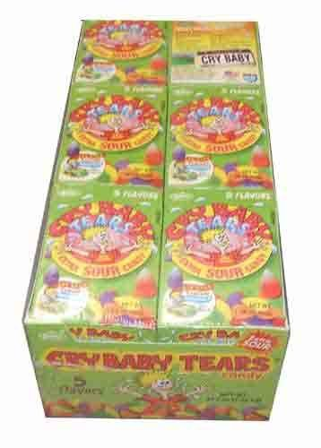 Cry Baby Candy (Cry Baby Tears Extra Sour Candy, Five Flavors, 1.9-ounce Boxes (Pack of)