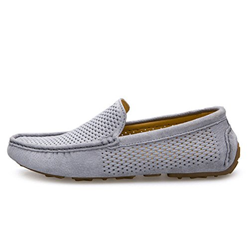 Pajamasea New Men Loafers Genuine Leather Slip on Driving Shoes Holes Soft Moccasins Holes Shoes Comfort Light Flats B07BD6L7ZQ Shoes 94a175