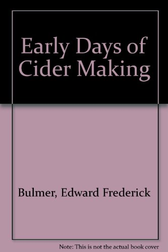Price comparison product image Early Days of Cider Making