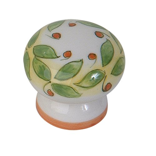 Atlas Homewares 3160-16 1-3/4-Inch Tuscany Collection San Lorenzo Hand painted Ceramic Knob, Ceramic (San Lorenzo Collection)
