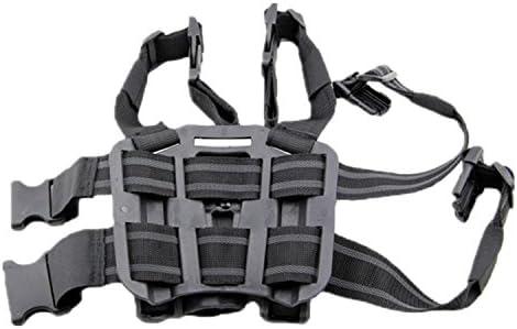 haoYK Ajustable T/áctico Airsoft Pistola Gota Bolsa Holster Bolsa Muslo Derecha Holster con Compartimiento Bolsa Antorcha para Glock 17 19 22 23 31 32 Llavero Incluido