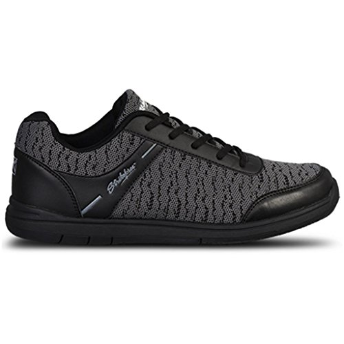 KR Strikeforce Men's Flyer Mesh Bowling Shoes, Black/Steel, Size 10 by KR