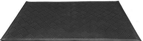 Imports Décor Rubber Doormat and Boot Scraper, Black Diamond, 35.5''x59'' by Imports