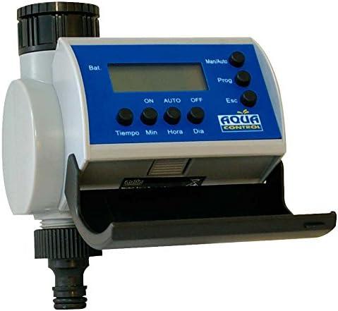 Aqua Control C4100 Programador de Riego para Jardín-con Pantalla LCD-Hasta 8 Arranques por día: Amazon.es: Jardín