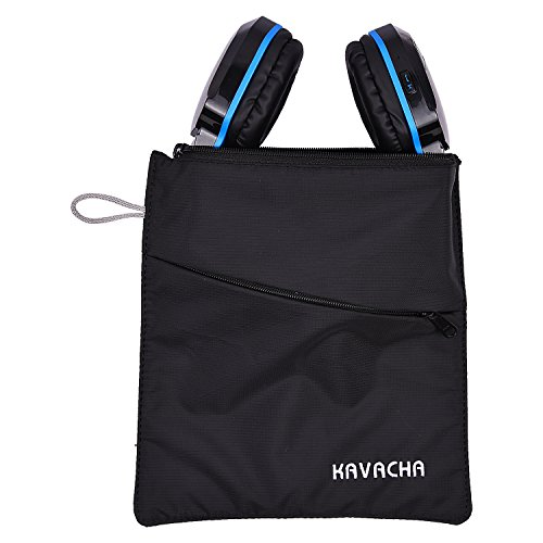 Kavacha Headphone Protection Pouch Bag for Boat Rockerz 510 – Black (Made in India)