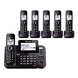 panasonic 2line phone - Panasonic KX-TG9542B + Four KX-TGA950B, 6-Handset Cordless System (2 Line) DECT 6.0 1.9Ghz