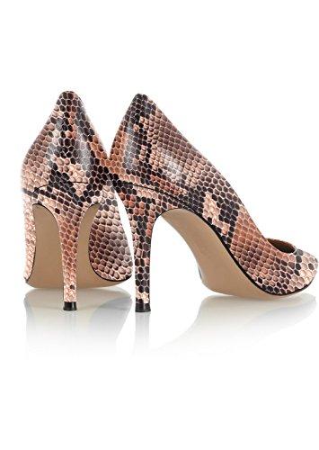 A Tacco Da Scarpe Spillo scarpe Python Soireelady Donna Brown Col Donna U0Bpw
