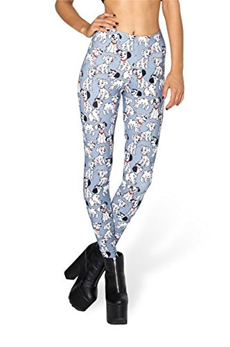 Zanuce Women's 2015 NEW Anime Print Pattern Tight Stretch Leggings 101 Dalmatian Toasties 814 One Size