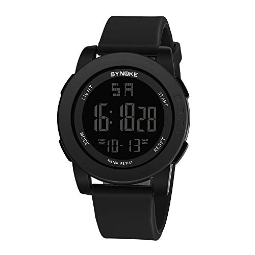 iNoDoZ Mens Sport Watch Men's Digital Wrist Watch Multi-Function 30M Waterproof Watch LED Double Action Watch ()