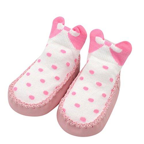 SMALLE ◕‿◕ Clearance,Bow Dot Newborn Baby Girls Boys Anti-Slip Socks Slipper Shoes Boots
