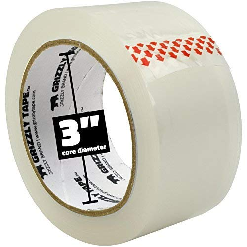 Grizzly Brand Clear Packing Tape Refill Rolls for Shipping, Moving, Packaging - True 2 inch x 65 Yards, 2.8mil Thick, 12 Rolls Photo #5