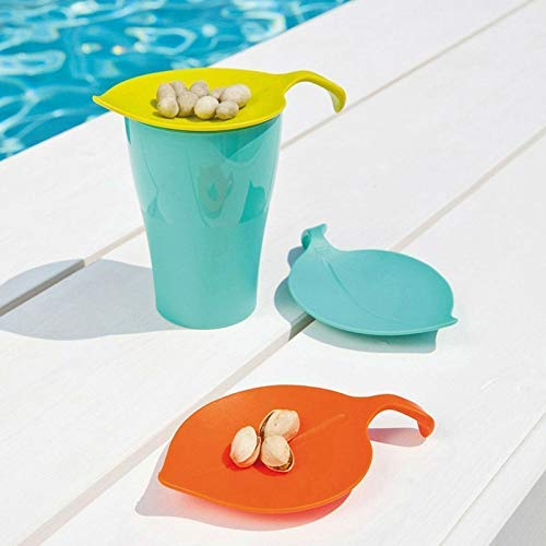 (Free-Ship 4 Pcs Multipurpose Cup Covers Small Plate Sauce Lemon Leaf Cup Lid Snack Plate Cup Cover Creative Teacups Tools IC873185)