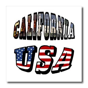 ht_55380_1 Sandy Mertens California - Picture Text of California and USA - Iron on Heat Transfers - 8x8 Iron on Heat Transfer for White Material